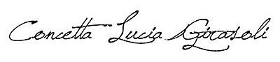 Firma autografa di Concetta Lucia Girasoli